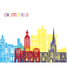 Chesterfield uk skyline pop vector