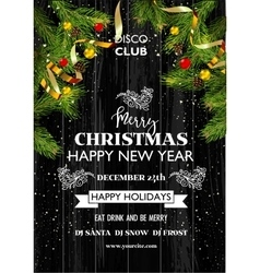 Christmas party template background decoration vector