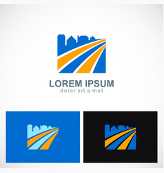 cityscape building logo vector image vector image