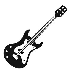 Classical electric guitar icon simple style vector