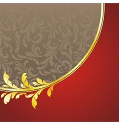 decorated golden pattern vector image vector image