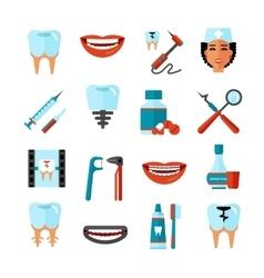 Dental care icon set vector