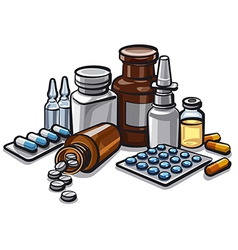 drugs and peels vector image
