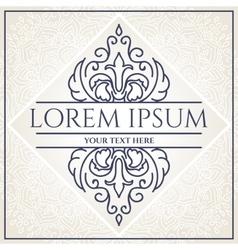 Elegant logo design vector image