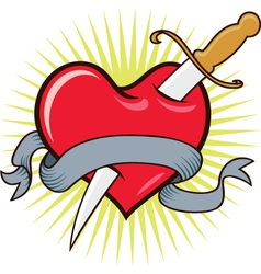 Knife in Heart vector image vector image