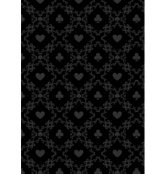 Luxury casino gambling poker background pattern vector image vector image