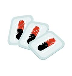 Medical Capsules in Blister Packs on White vector image