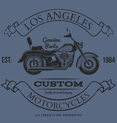 Motorcycle vintage graphics t-shirt typography vector