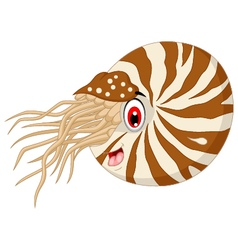 Nautilus cartoon for you design vector