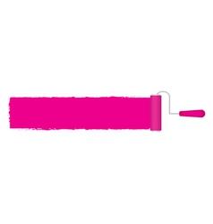 Pink roller vector