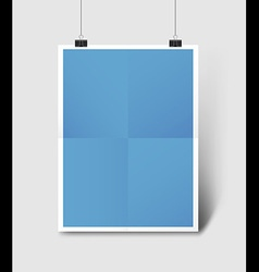 Poster Mockup vector image