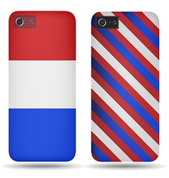 Rear covers smartphone with flags of Netherlands vector image vector image
