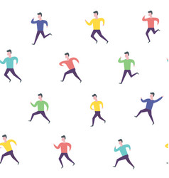 running people hurry late man sport activities vector image vector image