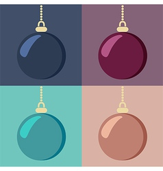 Set of Christmas baubles vector image vector image