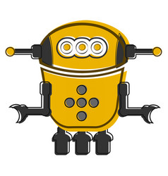 Sketch of a cute robot vector
