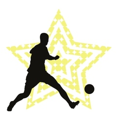 Soccer star concept vector image vector image