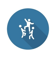 Team Building Concept Icon Flat Design vector image