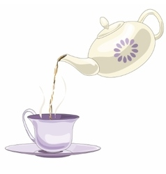 Teapot and tea pare vector