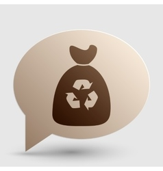 Trash bag icon brown gradient icon on bubble with vector