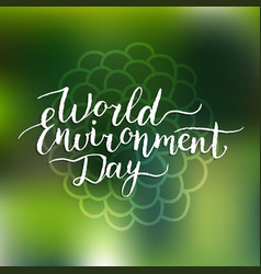 world environment day card on floral vector image