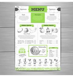 Vintage grunge vegetarian food menu design vector image