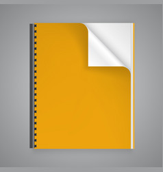 Open the paper journal vector