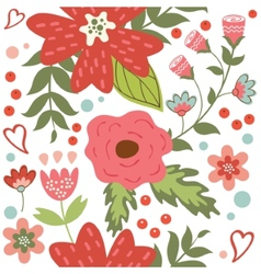 Beautiful seamless floral pattern vector image