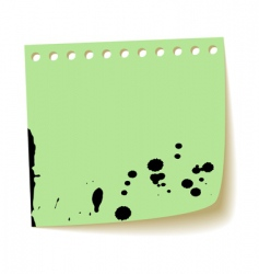 Paper sheet with splash ink vector