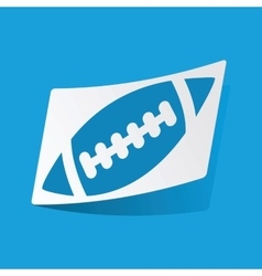 Rugby sticker vector image
