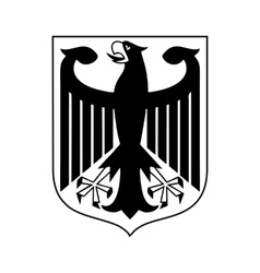 Coat of arms of germany icon simple style vector