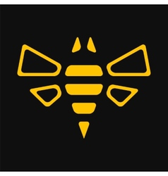 Abstract bee vector