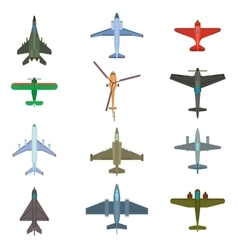 Aircraft top view vector
