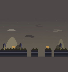 Art mountain tree scenery for game vector