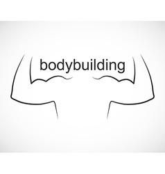 Bodybuilding design and sport icon vector image