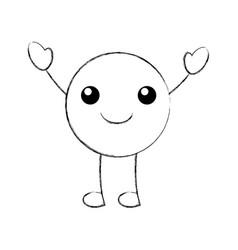 cartoon emoji happy love smile icon vector image