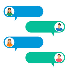 concept of online chat man vector image vector image