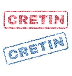 Cretin textile stamps vector