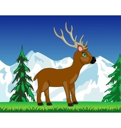 Deer on glade vector image