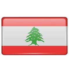 Flags Lebanon in the form of a magnet on vector image vector image