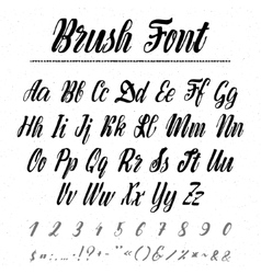 Font - handwriting brush It can be used to create vector image