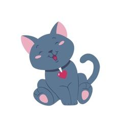 Funny cartoon cat vector