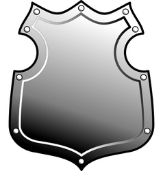 heraldic metal shield vector image vector image