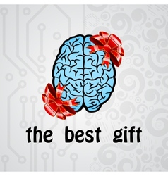 Human brain gift vector image vector image