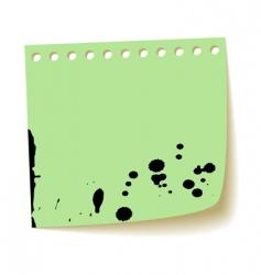 paper sheet with splash ink vector image vector image