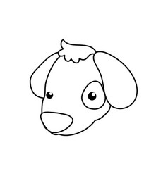 puppy cartoon drawing head vector image vector image