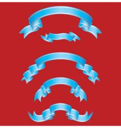 set of blue ribbons vector image
