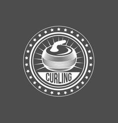set of vintage curling labels and design elements vector image