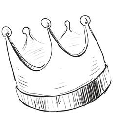 Simple crown icon vector