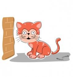 sketchy cat vector image