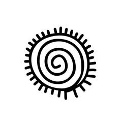 Sun icon aztec vector